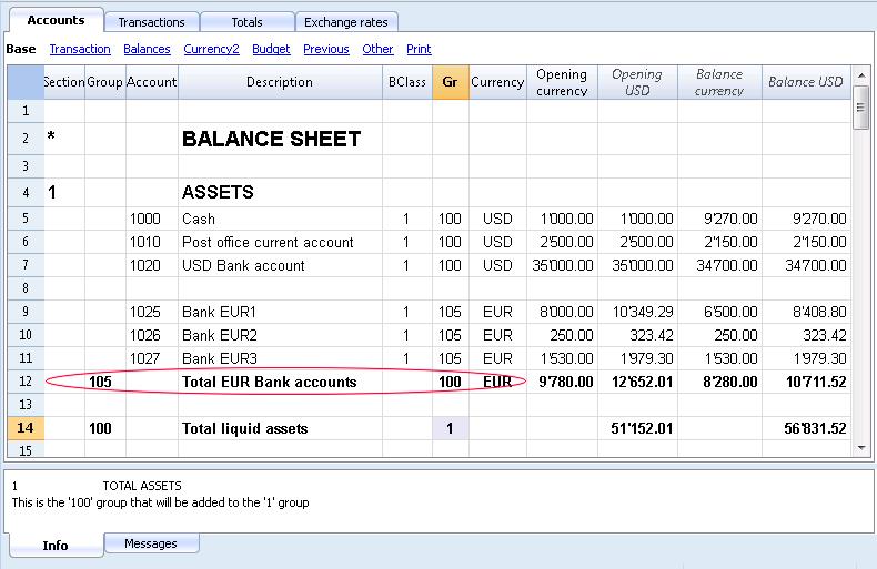 Balance Cash -19133