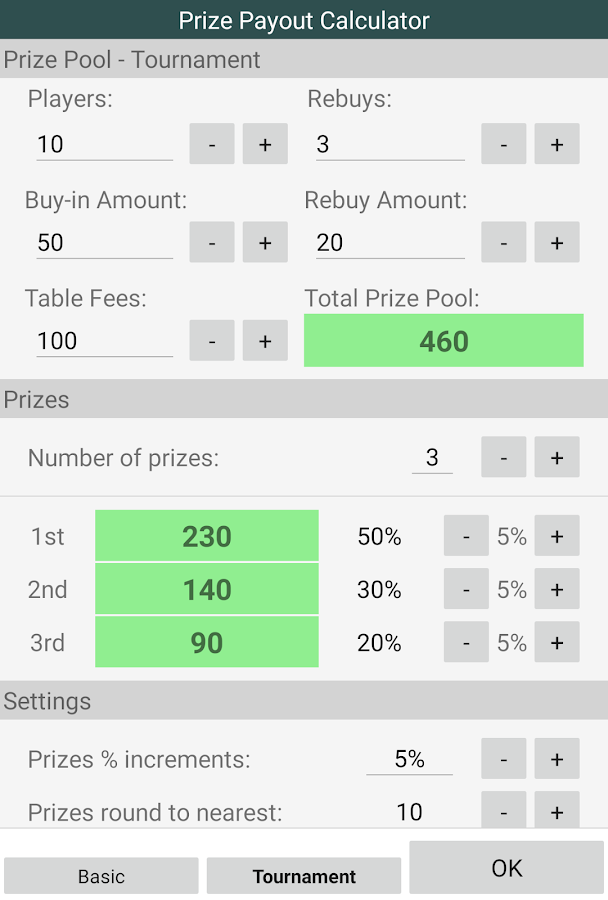 Payout Calculator -98581