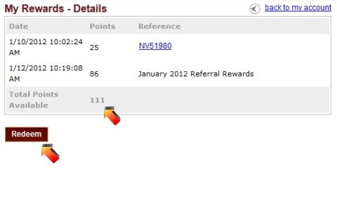 Total Rewards Points -69151