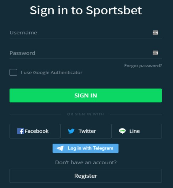 Activated Account Sportsbet -31216