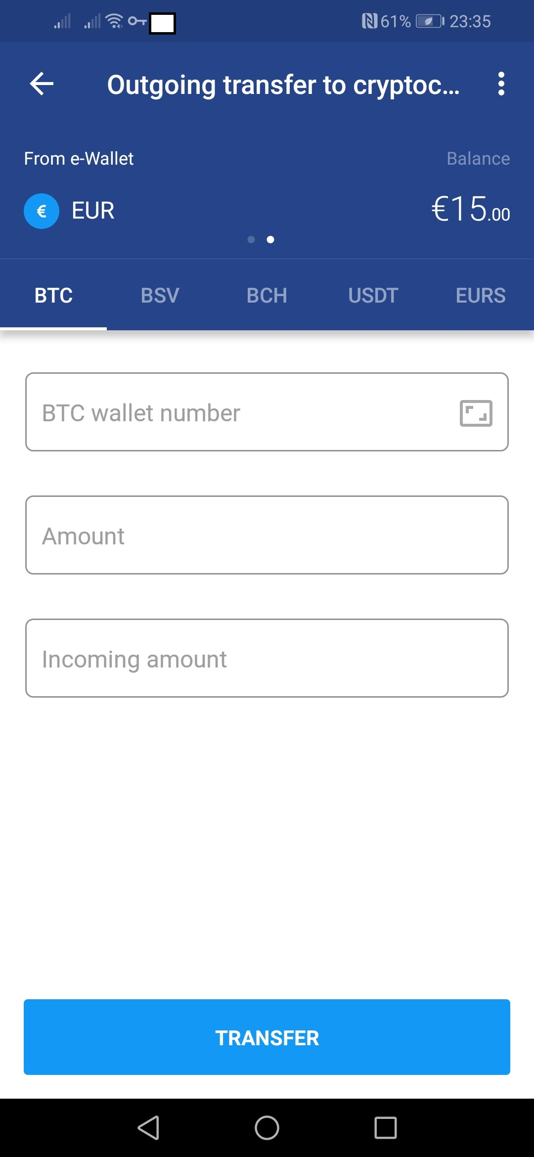 Withdraw Bitcoin -17819