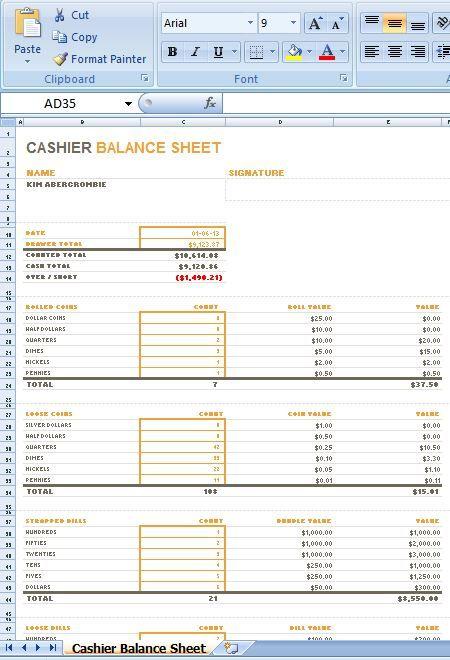 Balance Cash -18956